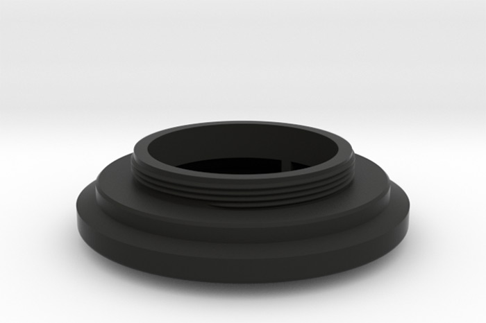 3D Printed Lens Mount Adapter: SEM KIM ANASTIGMAT CROSS F-45 1:2.9 to Leica-L