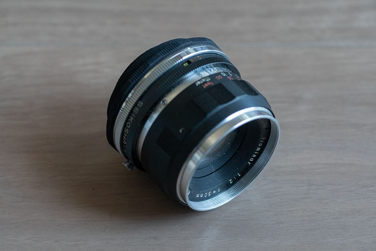3D Printed Lens Mount Adapter: Prominar 1:2 f=50mm to L39(Leica-L)