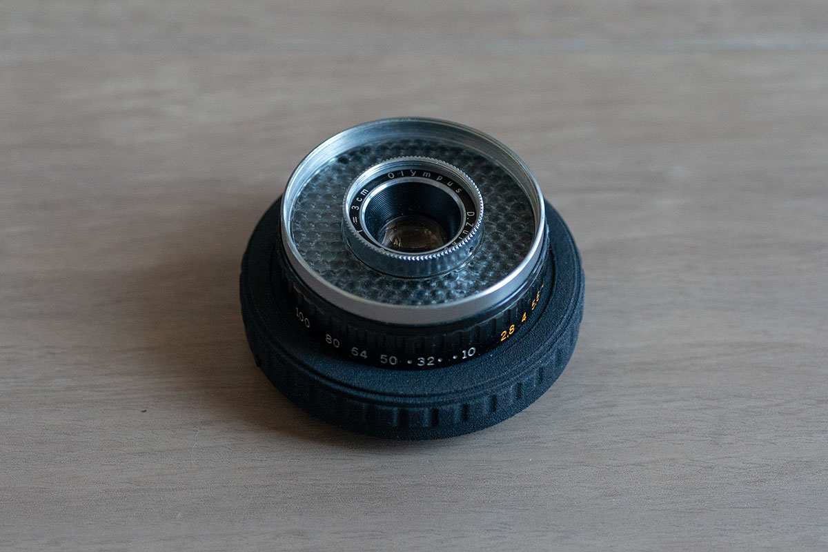 3D Printed Lens Mount Adapter: D.Zuiko 1:2.8 f=3cm to SONY-E